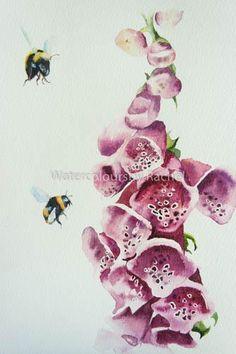 Rachel Toll @Elidanza Foxgloves and bees
