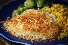 Parmesan Crusted Tilapia ~ I made this tonight using Flounder instead.  It was absolutely delicious.