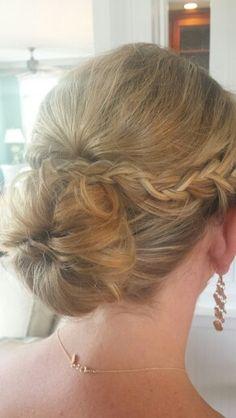 #braids #braidupdo #loose #lowbun #curls #updo #bridesmaidhair #bun #braid #bridalhair #bride #weddinghair #hairstylist #hair #wedding #bridesmaid #braidedbun #longhair #blonde