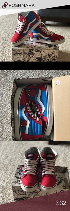 85a1cf54917 Boys Spider-Man Vans Young boys Spider-Man vans sneakers. In great condition