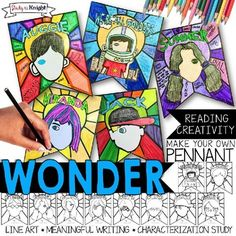 WONDER NOVEL CHARACTER STUDY, CHARACTERIZATION, PENNANT, M