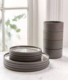 Shop Modern Dinnerware Set at Urban Outfitters today. We carry all the latest styles, colors and brands for you to choose from right here. Creative Kids Rooms, Dish Sets, Ceramic Plates, Tea Light Holder, Kitchen Decor, Kitchen Cart, Tableware, Urban Outfitters, Kitchen Supplies