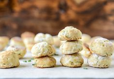 Mini cream cheese and chive biscuits