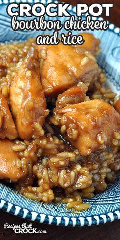 Crock Pot Food, Crockpot Dishes, Crockpot Recipes, Rice Recipes, Bourbon Chicken Recipe Crockpot, Crock Pot Rice, Simple Crock Pot Recipes, Easy Crock Pot Meals, Pasta Recipes