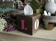 HaM / LOVE Wooden box of handkerchiefs Krabička na vreckovky - Láska