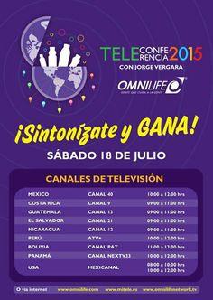 Teleconferencia con #JorgeVergara no te la puedes perder,  mañana a partir de las 10 am hora de México.