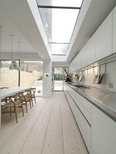Lovely minimal kitchen, London.