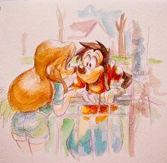 Max and Roxanne 2 | by Natsu-Nori @ DeviantART.com // goof troop; a goofy movie
