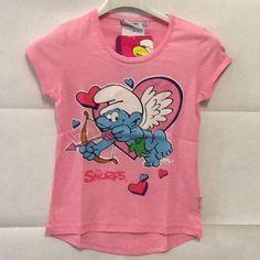 Maglietta manica corta Puffetta The Smurfs rosa 8 anni idea regalo SCONTO 30%