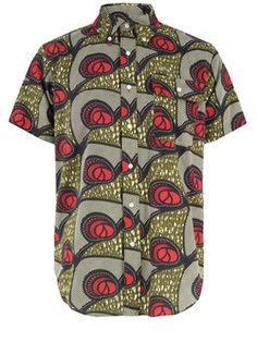 Woolrich Woolen Mills – Half Sleeve, mens short sleeve shirt with a button down collar and woven African inspired tribal print. The shirt also features a single button chest pocket, box pleated rear yoke and a curved hem. - Woolrich Woolen Mills garments reveal a passion for rediscovering and renewing traditional American techniques, functionality, and principles in clothing manufacture. Each item is a part of the heritage of American outdoor apparel while at the same time being entirely…