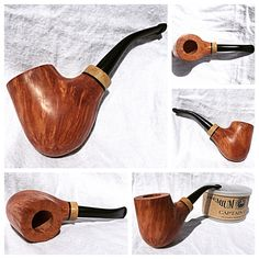 Recently finished pipe with coffee wood shank extension