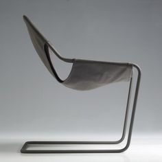 Paulistano canvas armchair by Paulo Mendes da Rocha