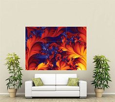 FRACTAL TRIPPY HUGE GIANT WALL ART NEW POSTER UNIQUE PRINT PICTURE ST038 *** Visit the image link more details.