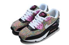 huge selection of 43d64 ed753 Nike Air Max 90 Fleur Imprimer Femme Marron Rose Noir Blanc Pas Cher  Women s Shoes,
