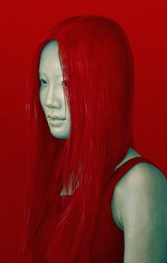 Salustiano Garcia Cruz - Contemporary Artist - Spain - Portrait - Red