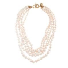 J.Crew - Pearl twisted hammock necklace - perfect on a LBD for a touch of chic