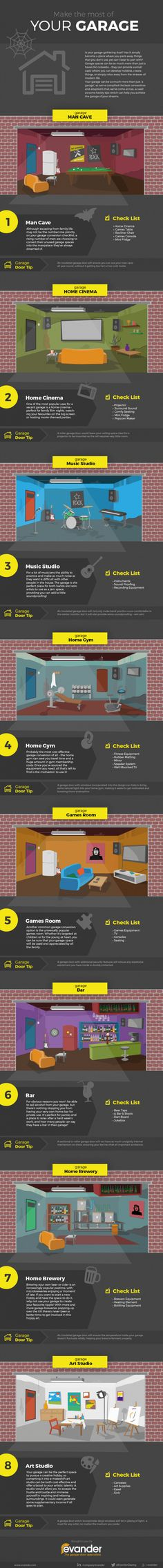 Turn your garage into the ultimate man cave | 10 Man Cave Ideas For Real Men http://diyready.com/man-cave-ideas-for-real-men/