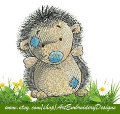 "Hedgehog - Machine Embroidery Designs Set for a Babies and Children of a series ""Old Toy"""