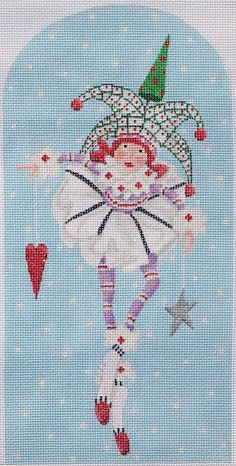 Patience Brewster Josie Joker, from Kate Dickerson Needlepoint Collections