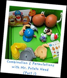 SO my question is, how do I get my hands on multiple Mr. Potato heads? {visualizing combinations and permutations}