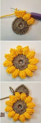Most up-to-date Totally Free crochet designs diy Style DIY Easy Crochet Flower design DIY Easy Crochet Flower Design Crochet Simple, Crochet Diy, Crochet Motifs, Crochet Flower Patterns, Crochet Designs, Crochet Crafts, Yarn Crafts, Crochet Stitches, Crochet Projects