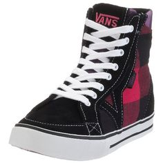 Vans TORY HI VHJ23ST, Damen Sneaker, schwarz, (buff plaid black/pink), EU 34 1/2, (US 5), (UK 2 1/2) Vans http://www.amazon.de/dp/B0028QGTEA/ref=cm_sw_r_pi_dp_JGq8tb1K98Y7R