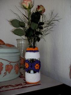 Blumenvase aus Milchflasche