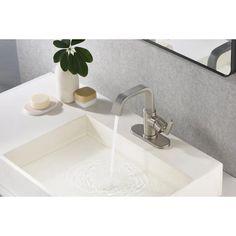 Zinc sink and faucet