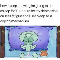 #depression #fatigue #escape #asleep #ko #koed #escapereality #coping #copingmechanism #copingmechanisms #squidward #spongebobmemes #spongebob #spongebobsquarepants #bed #nightnight #pookie