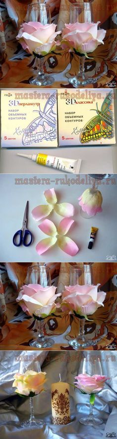 Wedding glasses | Skillful fingers
