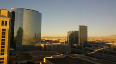 view from bellagio 19th floor Aria Las Vegas