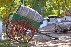 Barrel and cart Farm Life, Cannon, Barrel, Cart, Guns, Inspiration, Image, Covered Wagon, Weapons