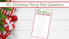 60 Jolly Christmas This or That Questions Christmas Bingo, Christmas Words, Christmas Train, Christmas Activities, A Christmas Story, Christmas Movies, Christmas Diy, Christmas Sweaters, Christmas Decorations