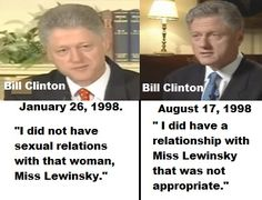 Image result for president clinton admits to blow jobe from monica lewinsky