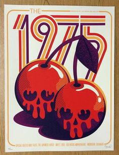 Original silkscreen concert poster for The 1975 at Red Rocks Amphitheater in Morrison, Colorado in 2016. 18 x 24 inches. Signed and numbered Limited Edition of only 200 by the artist Dan Stiles.