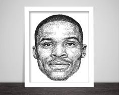 scribbled Russell Westbrook by ScribbleZone on easy.com
