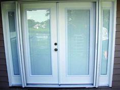 Fresh sliding glass door 72 x 96 tips for 2019 Sliding Door Design, Room Door Design, Sliding Closet Doors, Sliding Glass Door, Blinds For French Doors, Front Doors With Windows, Back Doors, Patio Storage, Ceiling Windows