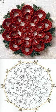 Watch The Video Splendid Crochet a Puff Flower Ideas. Phenomenal Crochet a Puff Flower Ideas. Crochet Motif Patterns, Crochet Doily Diagram, Crochet Flower Tutorial, Crochet Mandala, Crochet Art, Irish Crochet, Crochet Designs, Crochet Crafts, Crochet Doilies