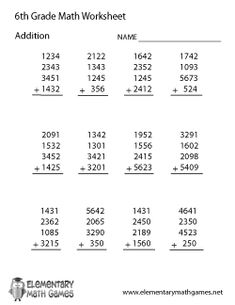 Printables Worksheets For Math 6th Grade grade 3 math and multiplication chart on pinterest