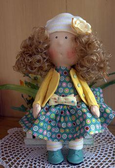 Купить Машенька - комбинированный, кукла ручной работы, куколка, малыш, малышка, интерьерная кукла