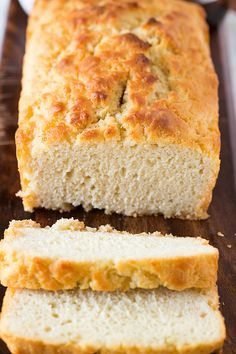 Buttery Honey Beer Bread - yield 1 loaf, prep time 5 minutes, cook time 50 to 60 minutes    by browneyedbaker #Bread #Beer #Honey