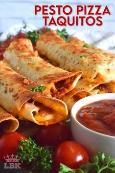 Pesto Pizza Taquitos - Lord Byron's Kitchen