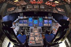 Space Shuttle Commander and Pilot's control. I so wanted to fly this thing. Then my eyes went... And my knees went.. And...