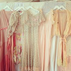 vintage pastels// bridesmaid dresses// via stone fox bride