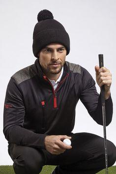 b9362e5f7a9adf Mens Zip Neck Shoulder Panel Detail Performance Golf Midlayer Men's  Outerwear, Mens Golf, Golf