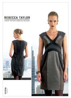 VOGUE 1316 - FROM 2012 - UNCUT - MISSES DRESS
