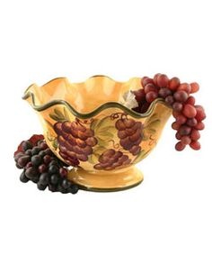 Sonoma Collection Fruit Bowl | Overstock.com Shopping   Great Deals On  Serving Bowls $36.99