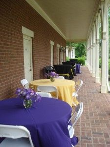 The verandah of Maney Hall makes for a lovely pre-party cocktail reception!