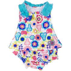 Traje de Baño para Niña Flores Eden Paradise Tuc Tuc - Bebitos $579 #moda #playa #niños #compraenlínea