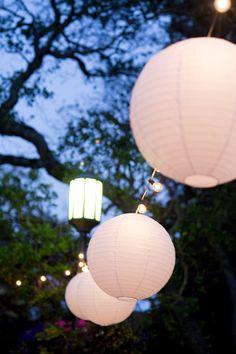 Strung Lanterns. Night Glow String Lanterns, Glow, Table Lamp, Lighting, Connecticut, Gallery, Wedding, Events, Night